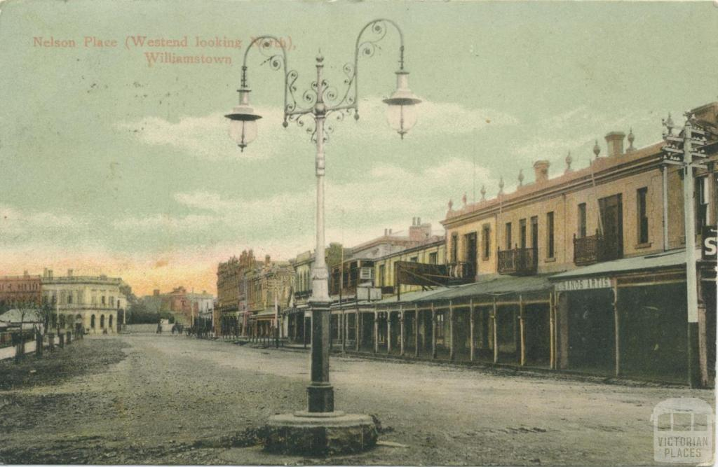 Nelson Place, (Westend looking North), Williamstown, 1905