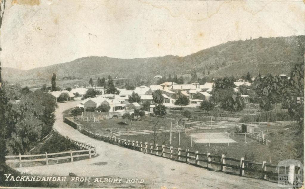 Yackandandah from Albury Road, 1907
