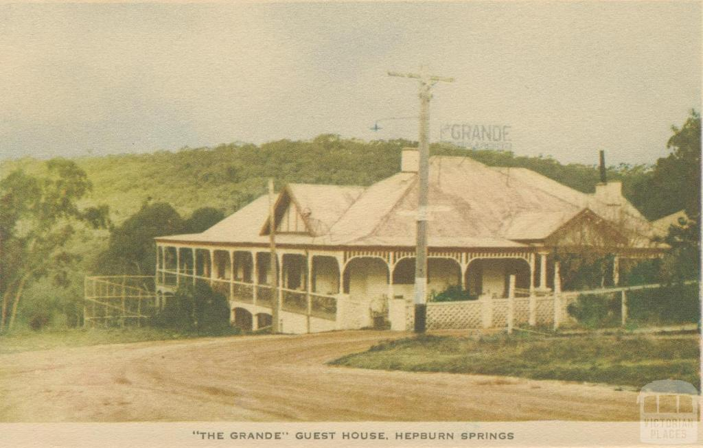 The Grande Guest House, Hepburn Springs, 1948