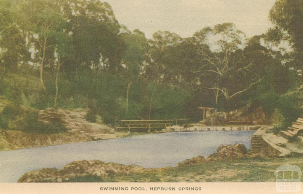 Swimming Pool, Hepburn Springs, 1948