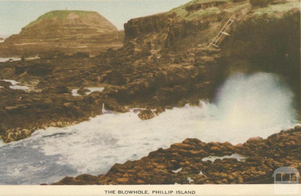 The blowhole, Phillip Island
