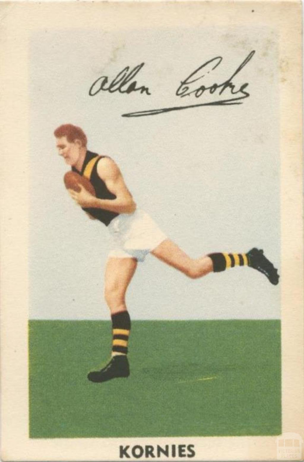 Allan Cooke, Richmond Football Club, Kornies Card